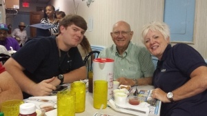 Daddy with my sister, Debbie and her son, Will, as we celebrated Father's Day 2014